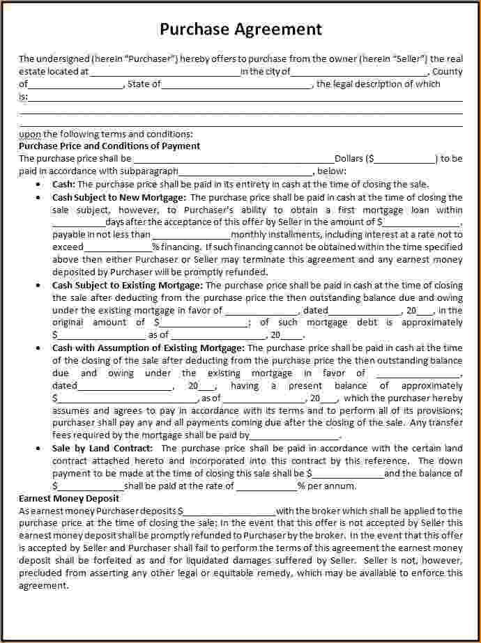 Home Purchase Agreement Template | Template Design