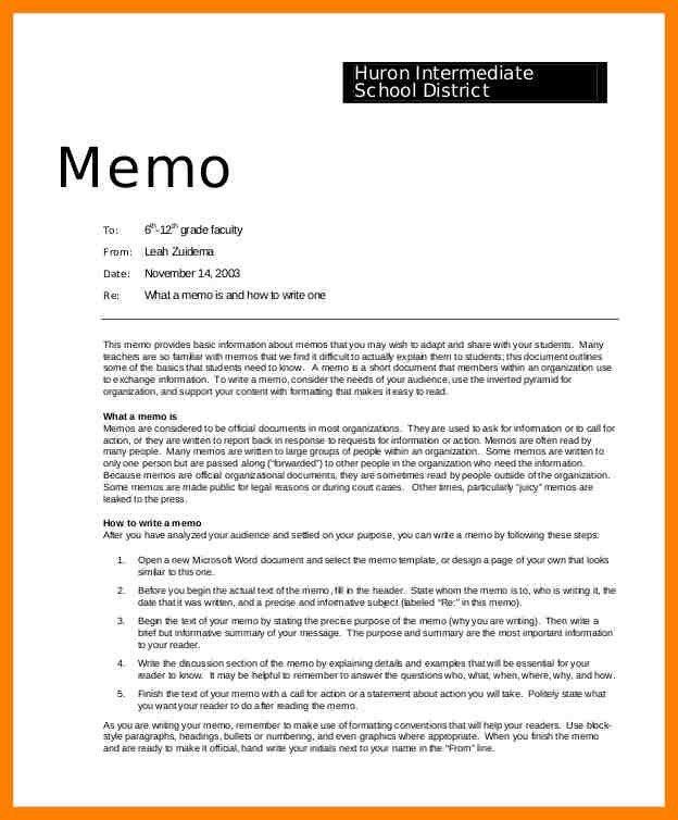 Professional Memo Format Template 68 | Samples.csat.co