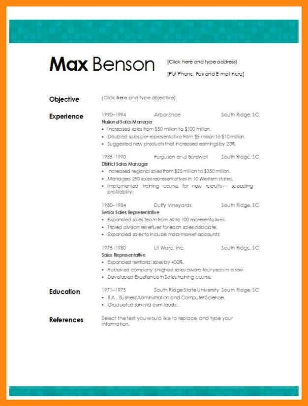 Sample Resume Fill In The Blank. how to fill out a resume blank ...