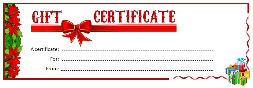 Christmas Gift Certificate Template Free Download 2017 | Best ...