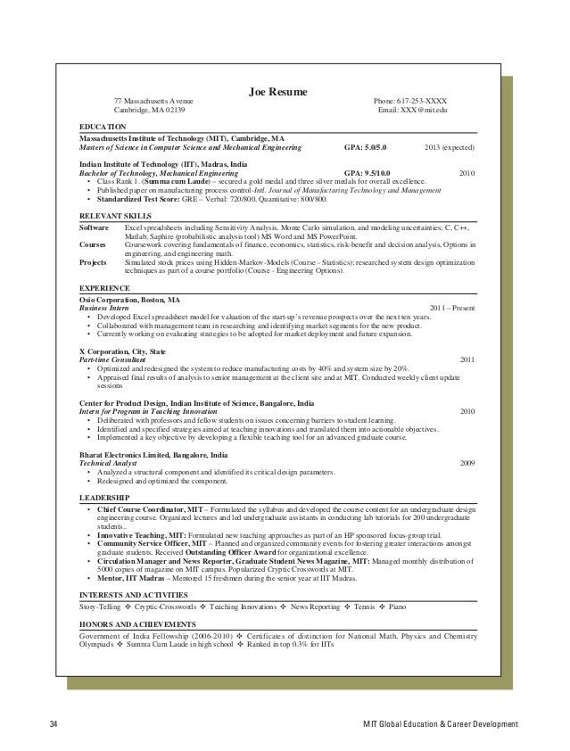 Resume Template Latex Graduate Student - Templates