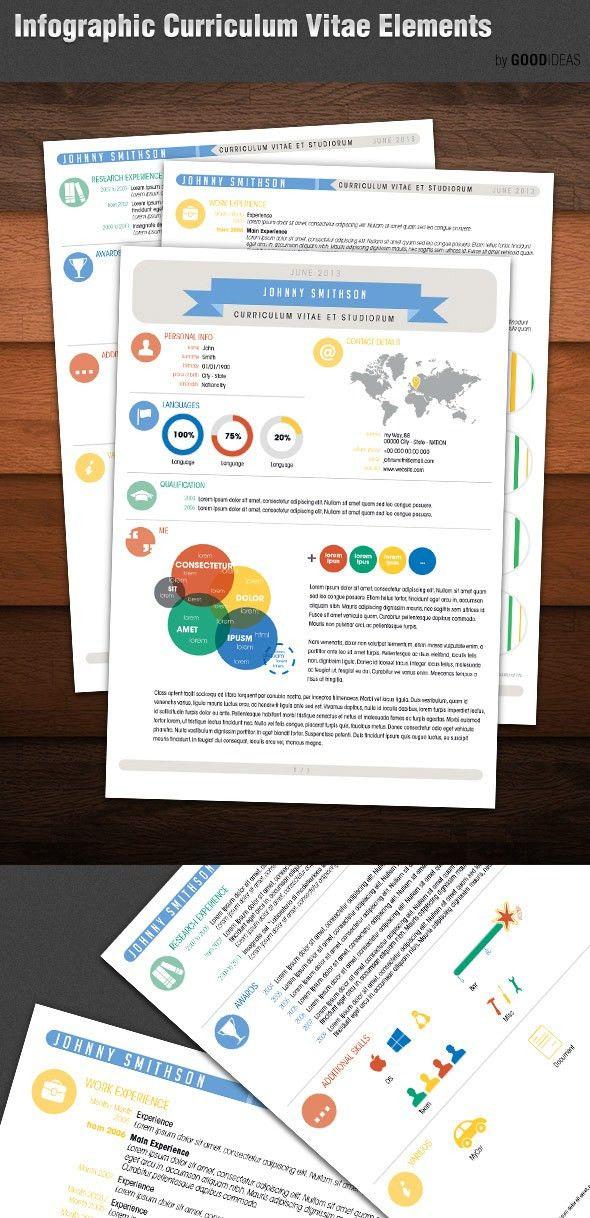 15 Creative, Infographic Resume Templates