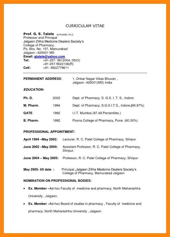 2+ bio data format for teacher job | nurse resumed