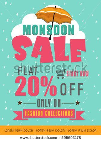 Monsoon Sale Poster Banner Flyer Design Stock Vector 632674214 ...