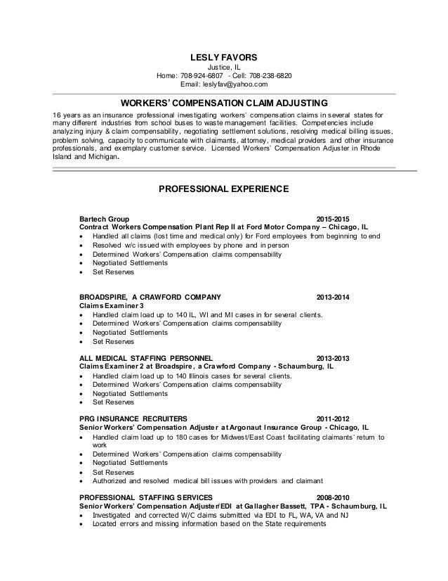 claims adjuster resume free entry level insurance claims adjuster