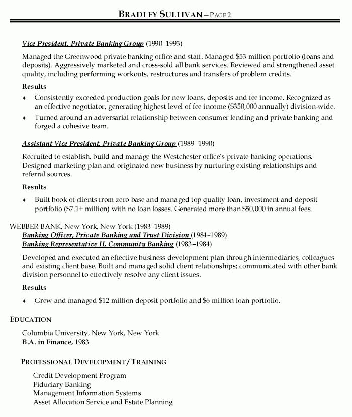 VP Business Development Officer Resume - VP Business Development ...