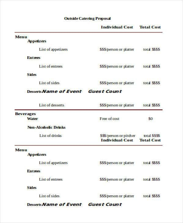Sample Catering Proposal Template. Catering-Proposal-Cover-Letter ...
