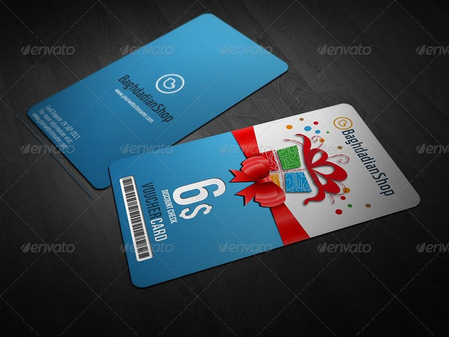 Gift Voucher Card Template Vol. 8 by OWPictures   GraphicRiver