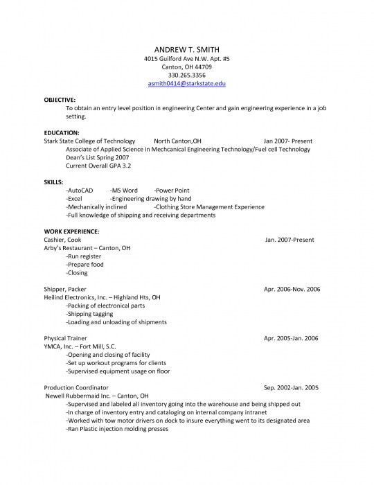 Resume For Clothing Store - formats.csat.co