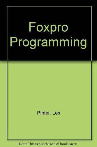 9780830625864: Foxpro Programming - AbeBooks - Les Pinter: 0830625860