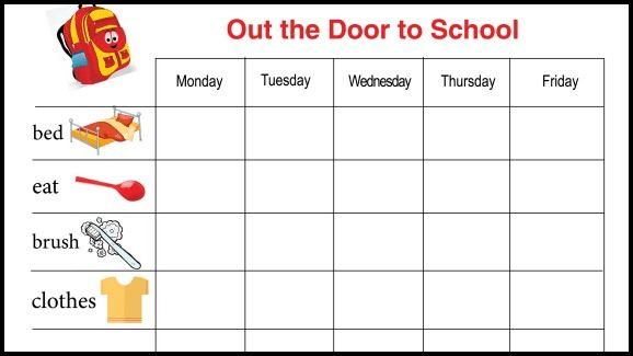Free Printable Sticker Reward Chart: Out the Door to School ...