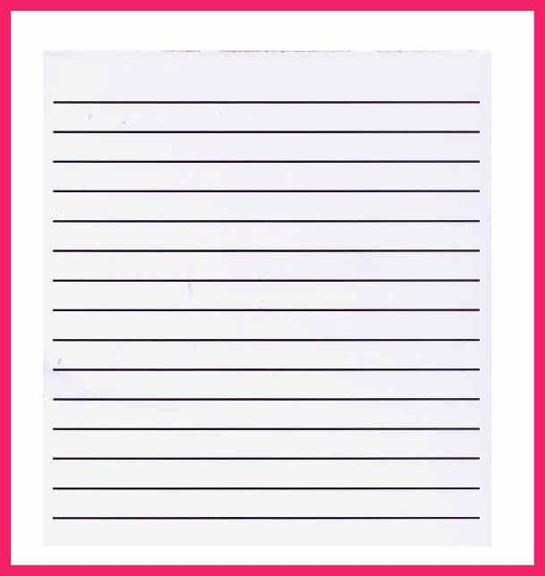 College Ruled Paper Template. 3 Mm Lined Paper Template - Paperkit ...