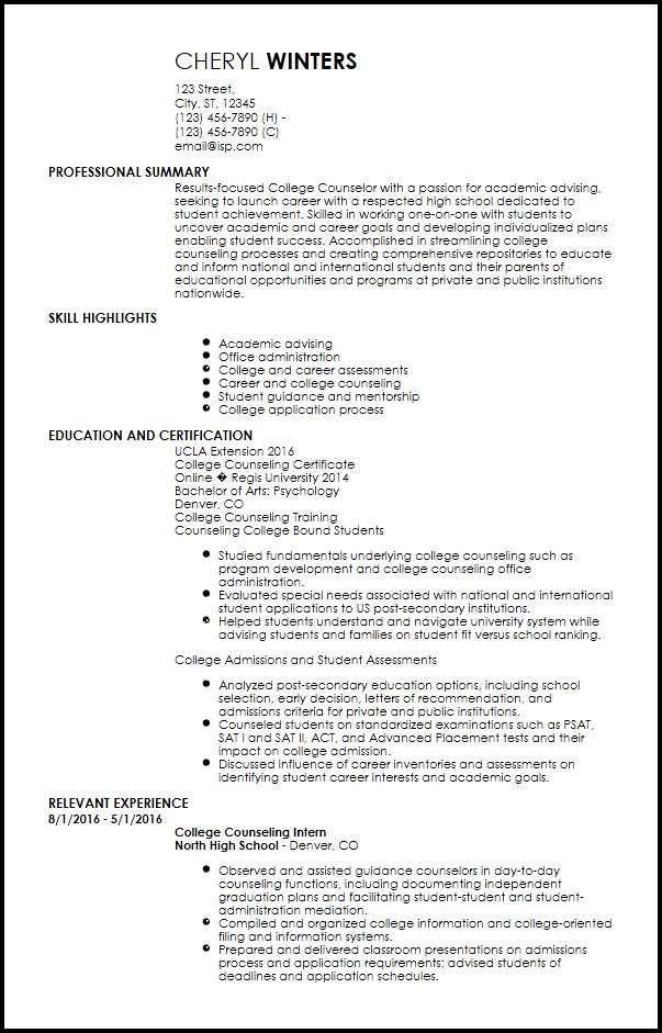 Free Entry-Level Academic Advisor Resume Templates | ResumeNow