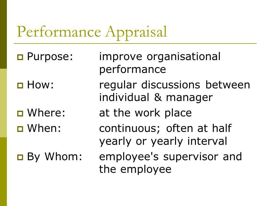 Appraising Performance - ppt download