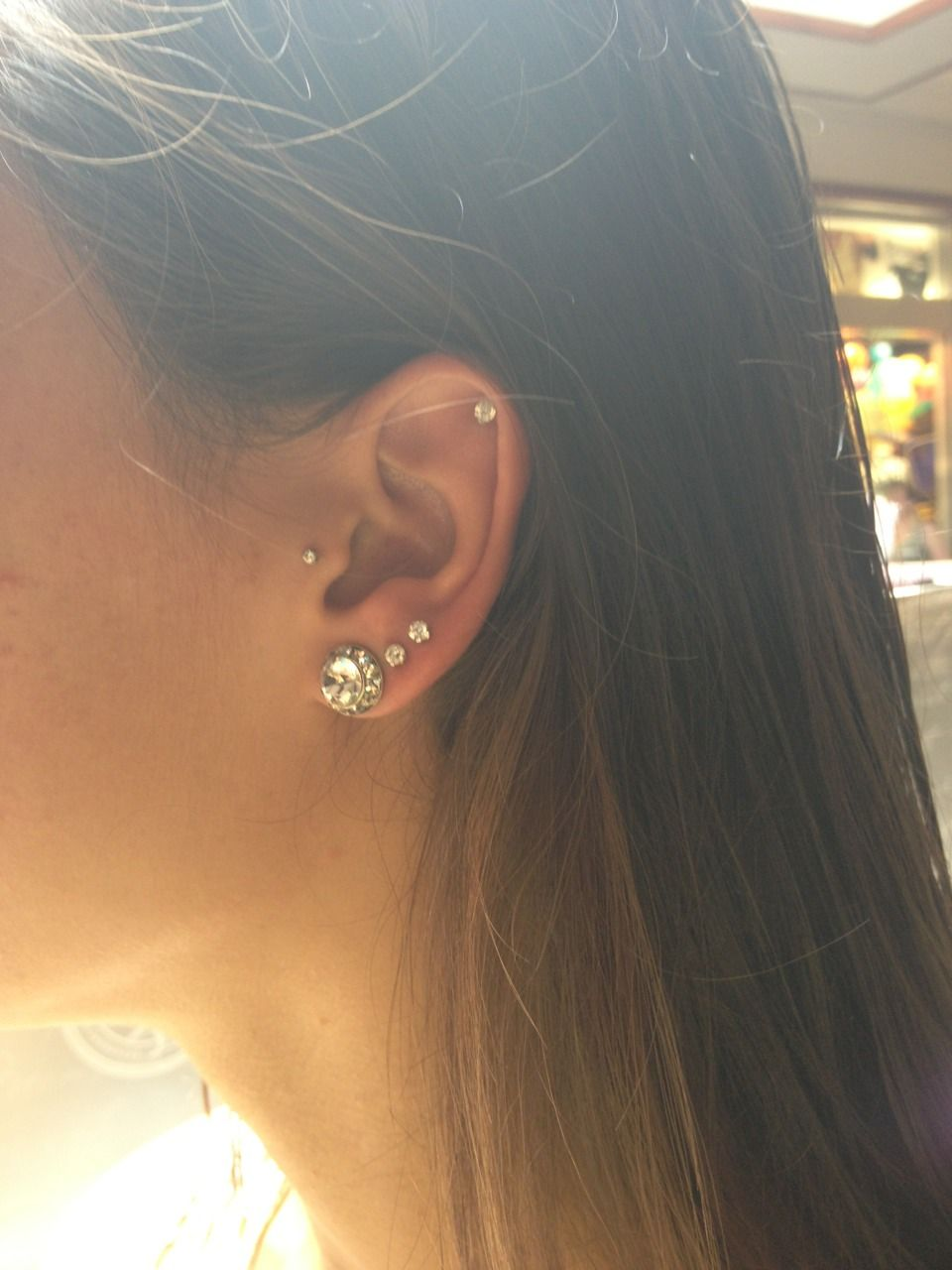 Nose piercing without earring  Double helix piercing  Earrings  Pinterest  Double helix piercing