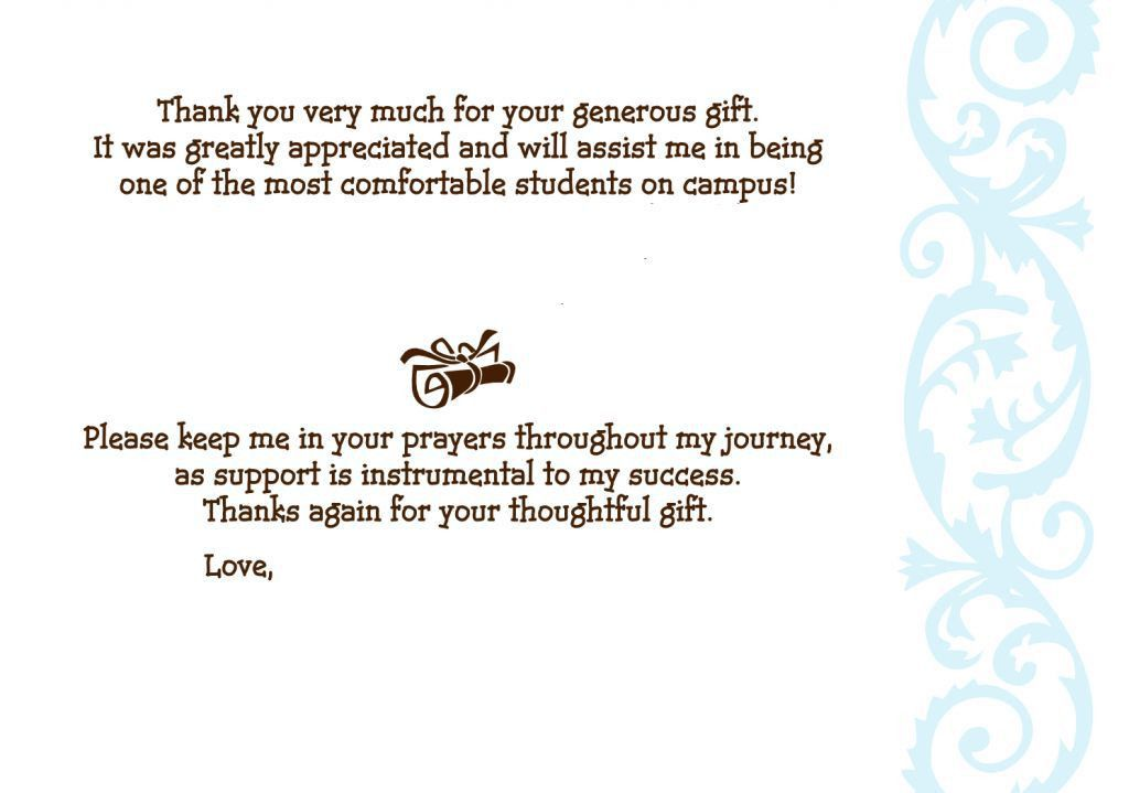 Sample Graduation Thank You Letter. College Graduation Thank-You ...