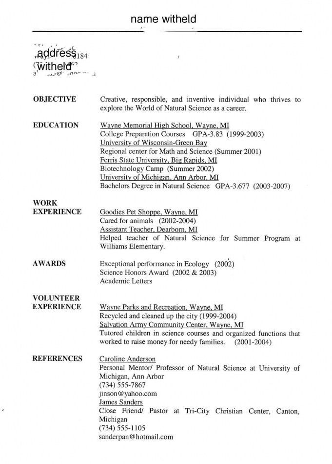 Download Examples Of Student Resumes | haadyaooverbayresort.com