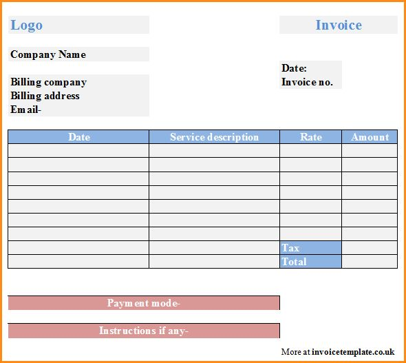 8+ sample invoice for services | Invoice Template Download
