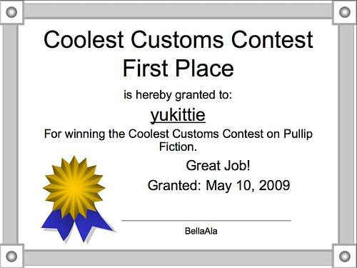 Coolest Customs Contest Winner's Certificate | This is the c… | Flickr