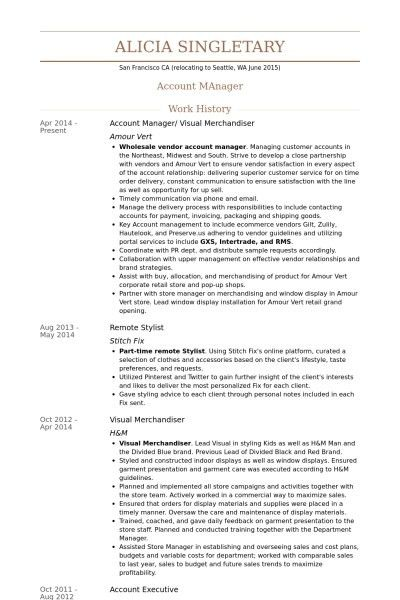 Visual Merchandiser Resume | The Best Resume