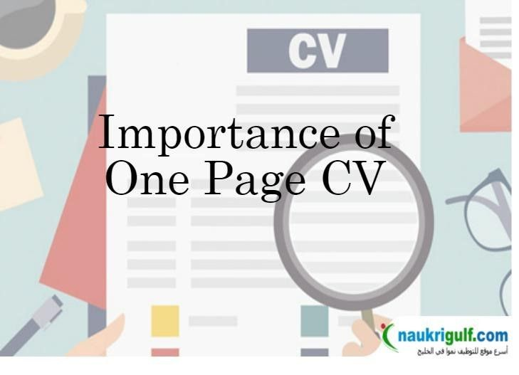 How to Make a One Page CV – Single Page Resume Format -