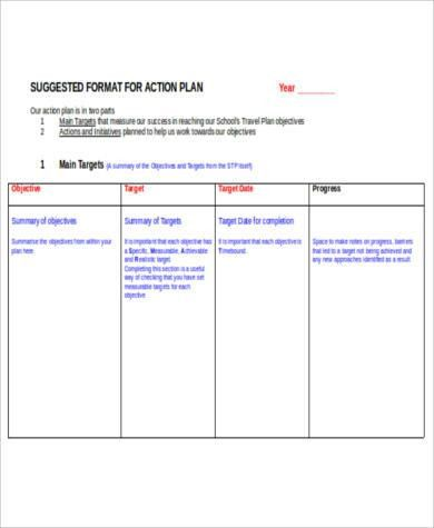 Free Action Plan - 38+ Examples in Word, PDF, Excel