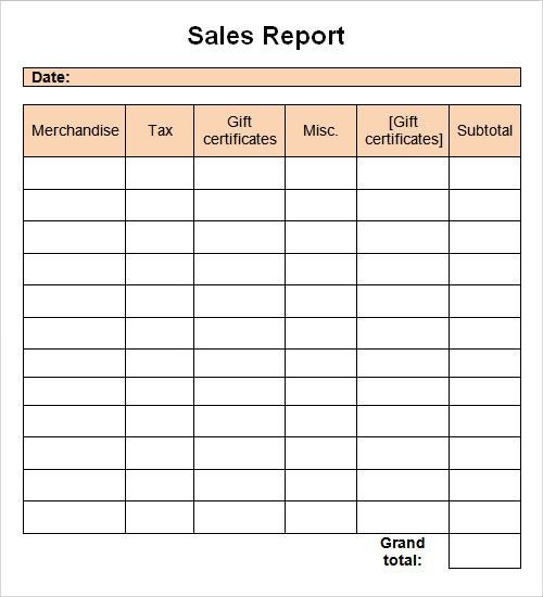 Sales Report Template. Sales Activity Plan Template | Sample ...