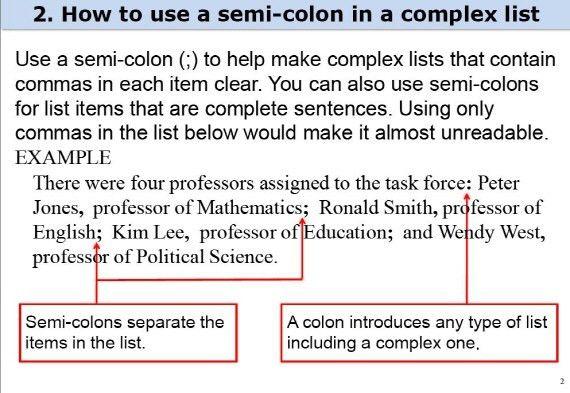 Hanyang CTL English Writing Lab :: Using colon and semi-colon