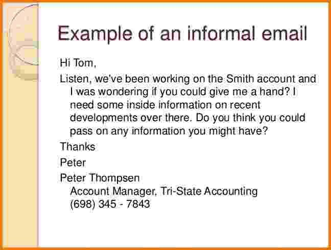 6+ formal email examples | Financial Statement Form