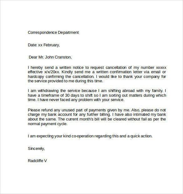 Resignation Letter : Resignation Cancellation Letter Format This ...