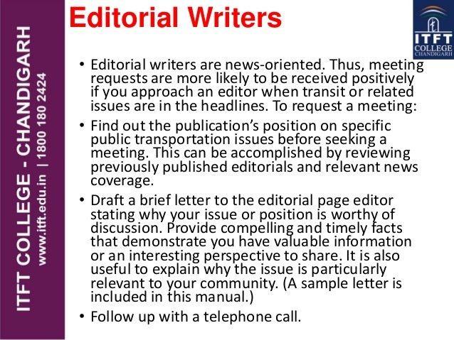 ITFT-MEDIA Editorial page