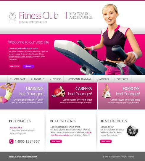 Free XHTML Website Template – Sports & Fitness | Free Web ...