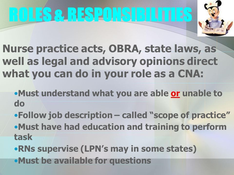 Intro to OBRA and the Nursing Assistant - ppt download
