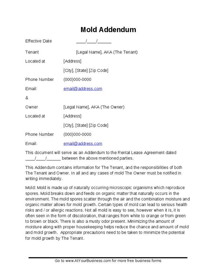 Dates Addendum Lease Terms - Hashdoc
