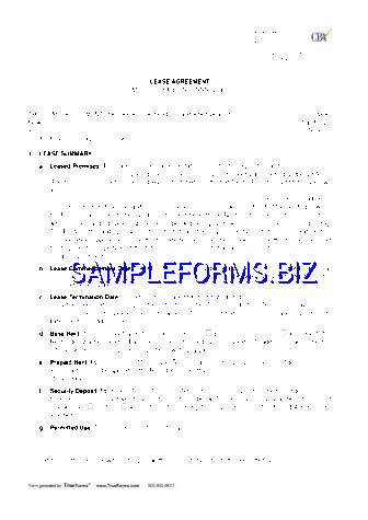 Rent and Lease Template & samples forms