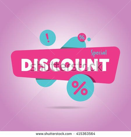 Discount Tag Special Offer Sale Sticker Stock Vector 411096262 ...