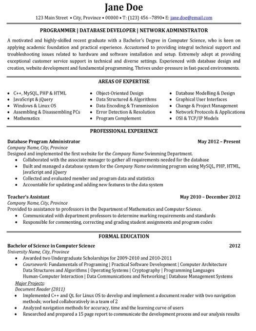 Software Developer Resume Template. Web Developer Resume Download ...