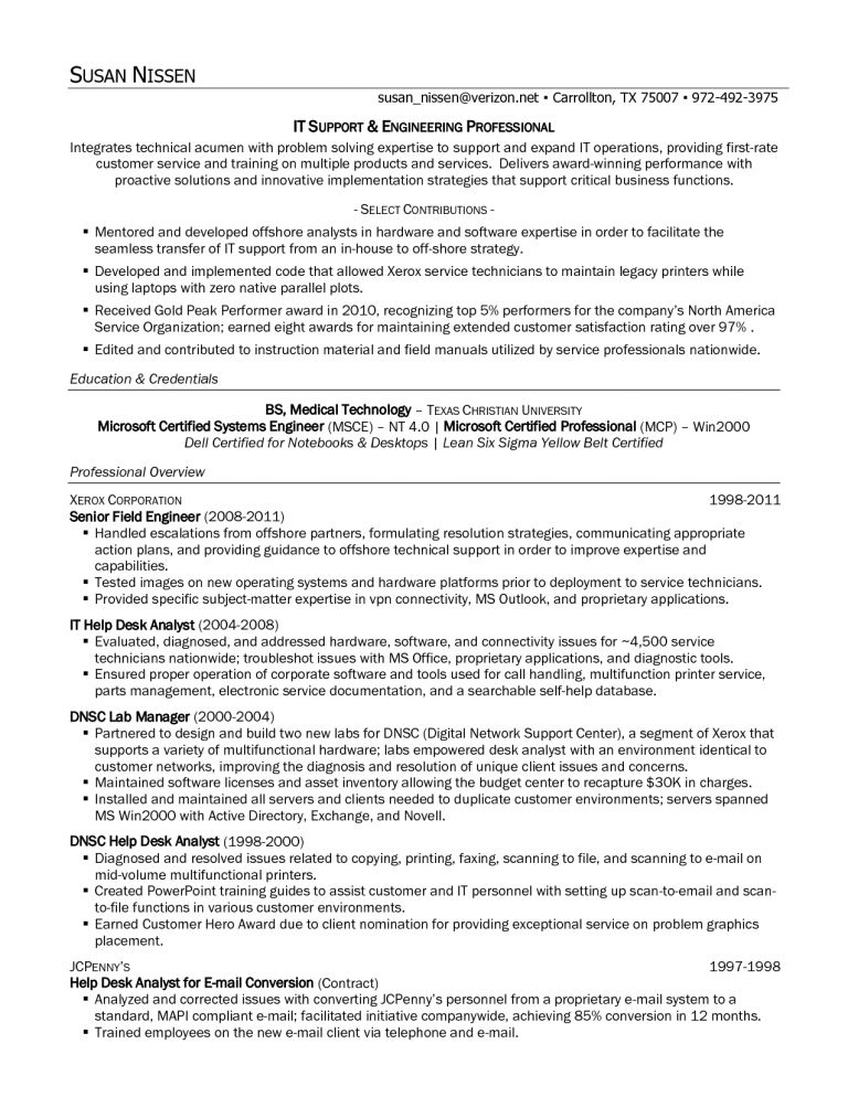 Stylish Inspiration Tech Support Resume 14 Technical Support ...