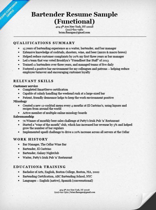 Download Sample Employment Resume   haadyaooverbayresort.com