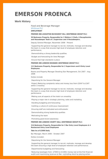 6+ General Manager Job Description Restaurant | Joblettered
