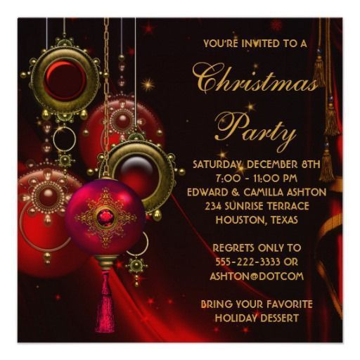 21 best Christmas Party Invitation Templates images on Pinterest ...