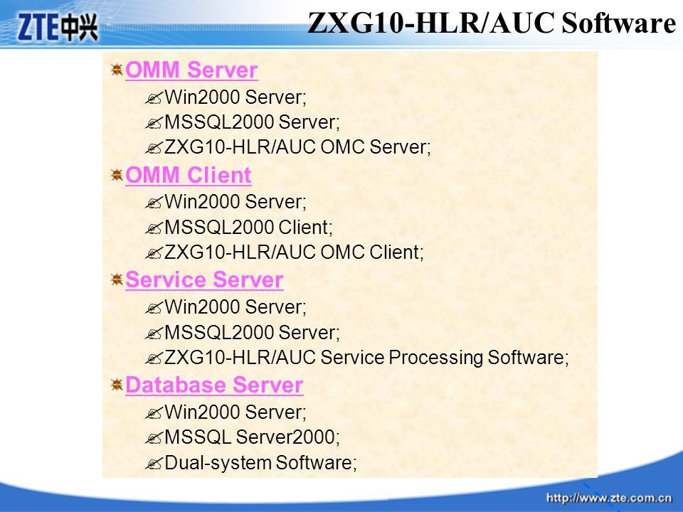 ZXG10-MSC/VLR,HLR/AUC,SC Software Installation - ppt video online ...