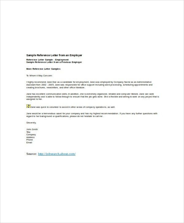 6+ Sample Employer Recommendation Letter - Free Sample, Example ...