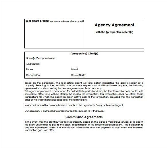 Sample Agency Agreement Template   9+ Free Documents In PDF