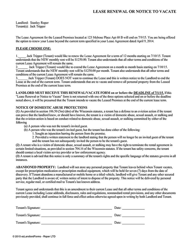 Landlord Tenant Notices – Rental Property Notices | EZ Landlord Forms
