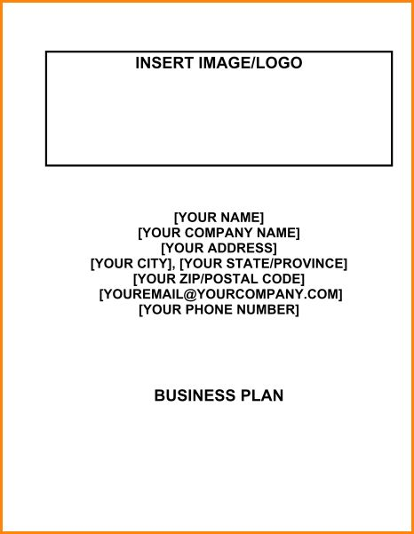 8+ proffesional sample cover page of a business plan | receipts ...