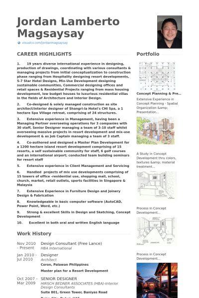 Design Consultant Resume samples - VisualCV resume samples database