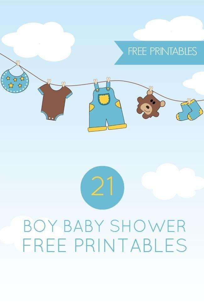 21 Free Boy Baby Shower Printables | Spaceships and Laser Beams