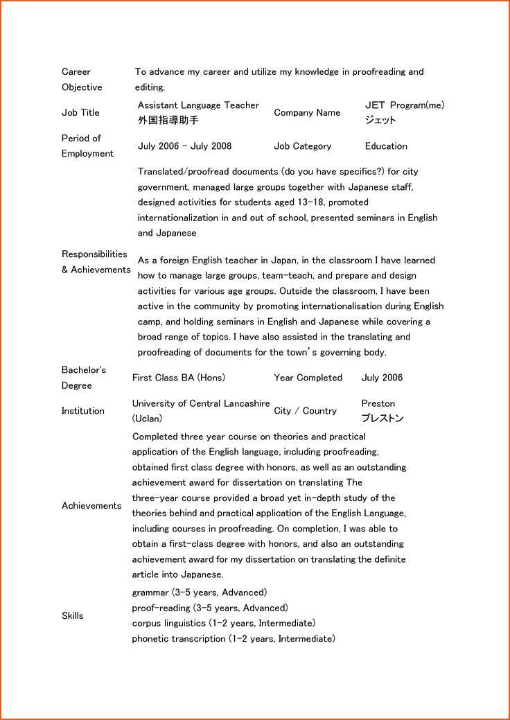 Resume Sample Teacher Objective - Templates