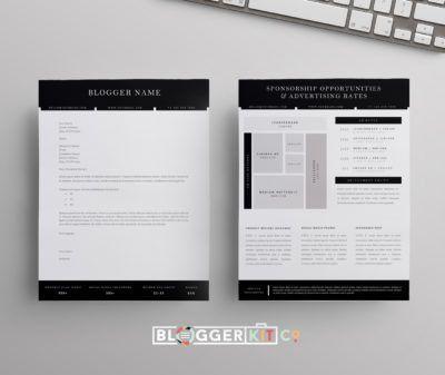 Blog Sponsorship Set | Proposal Letter Template + Ad Rate Sheet ...